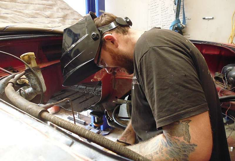 Welding chassis mods